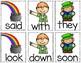 St. Patrick's Day Sight Word & CVC Word Games