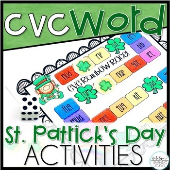 St. Patrick's Day CVC Word Phonics Worksheets and Activities