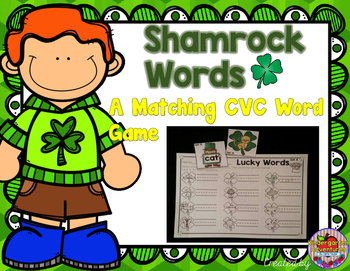 St. Patrick's Day CVC Word and Picture Match
