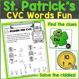 St. Patrick's Day CVC Words Around the Room, Sensory Bin A
