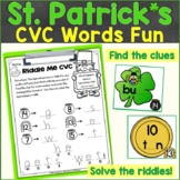 St. Patrick's Day CVC Words Around the Room, Sensory Bin A