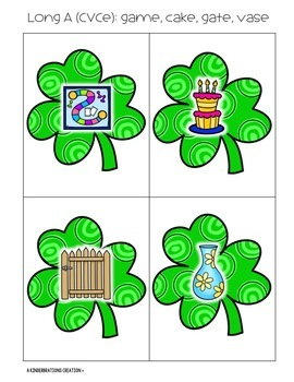 St. Patrick's Day and March Themed CVC and CVCe Literacy Activities & Printables