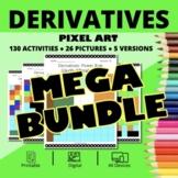 St. Patrick's Day Calculus Derivatives BUNDLE: Math Pixel Art Activities