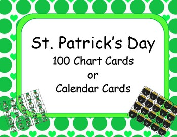 St. Patrick's Day Calendar or 100 Chart Cards