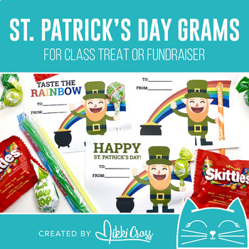 St. Patrick's Day Rainbow Candy Grams | Lucky Grams | Class Treat or Fundraiser