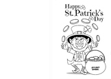 Saint Patrick's Day Color Your Own Card!