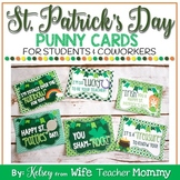 St. Patrick's Day Cards, Gift Tags for Students and Coworkers