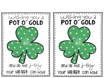 St. Patrick's Cards FREEBIE