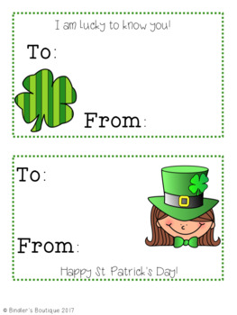 St. Patrick's Day Cards/ Coloring Pages