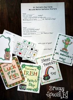 St. Patrick's Day Cards: Differentiated for ALL your Students
