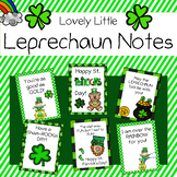 St. Patrick's Day Cards - (Lovely Little Leprechaun Notes)
