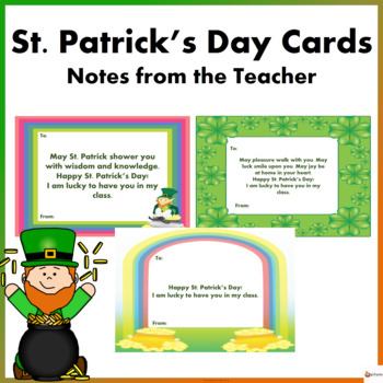 St. Patrick's Day Cards: Notes from the Teacher