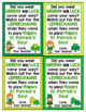 St. Patrick's Day Cards for Students - Editable in color & black and white!
