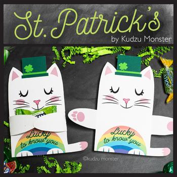 St. Patrick's Day Cat Leprechaun Candy Huggers