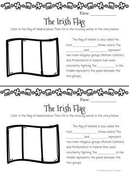 St. Patrick's Day Celebration and Activity Packet