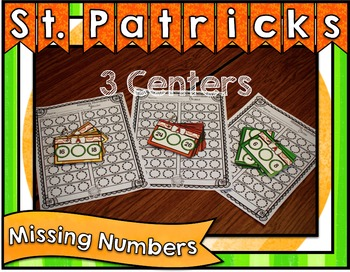 St. Patrick's Day Center ~ Missing Numbers