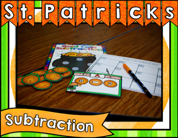 St. Patrick's Day Center ~ Subtraction