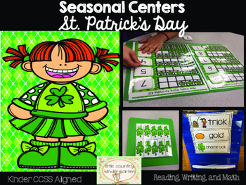 St. Patrick's Day Centers: Kinder Literacy and Math