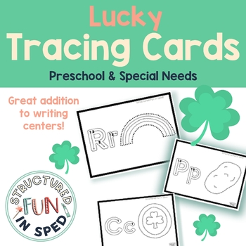 St. Patrick's Day Centers Tracing Cards for Preschool, Pre-k, Special Needs