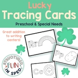 St. Patrick's Day Writing Center Task Cards for Preschool Special Education