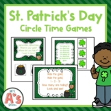 Preschool Circle Time | St Patricks Day Activities Bundle