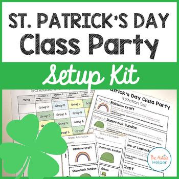 St. Patrick's Day Class Party Setup Kit