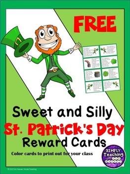 St. Patrick's Day Classroom Reward Cards Freebie