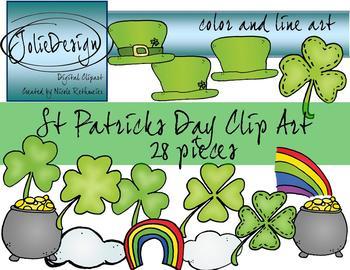 St. Patrick's Day Clipart - 28 piece set