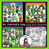 St. Patrick's Day Clip Art BUNDLE clip art- color and B&W-