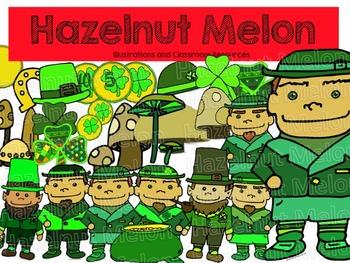 St. Patrick's Day Clip Art - Line Art