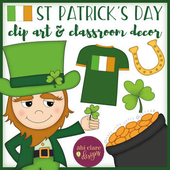 St Patrick's Day Color Clip Art and Classroom Decor