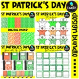 St Patrick's Day Clip Art Design Pack {Educlips Clipart}