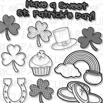 St. Patrick's Day Clip Art (Digital Use Ok!)