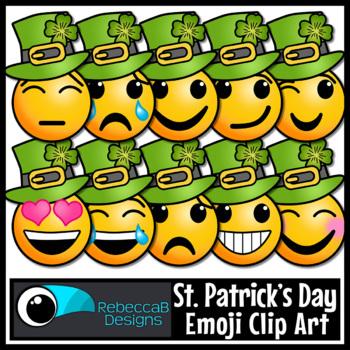 St. Patrick's Day Emoji Clip Art