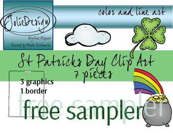 St. Patrick's Day Clipart Free Sampler - 7 piece set