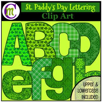 St. Patrick's Day Clip Art Letters