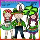 St. Patrick's Day Clip Art SET 1 clip art- color and B&W-
