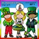 St. Patrick's Day Clip Art SET 1 clip art- color and B&W-