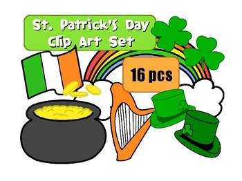 St Patrick's Day Clip Art Set