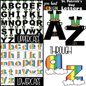Alphabet Letters Clip Art - St. Patrick's Day Letters {jen hart Clip Art)