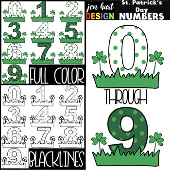 St. Patrick's Day Clip Art - St. Patrick's Day Numbers {jen hart Clip Art}