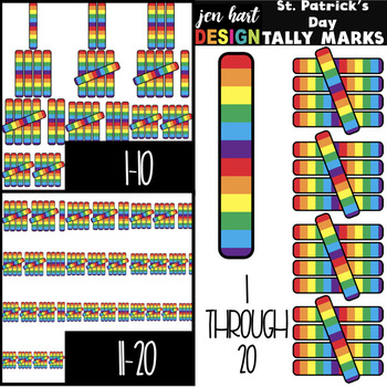 St. Patrick's Day Clip Art- Tally Marks 1-20 {jen hart Clip Art}