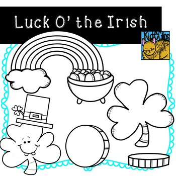 St. Patrick's Day Clip Art by Kid-E-Clips Commercial and Personal Use