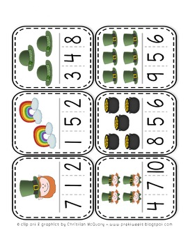 St. Patrick's Day Clip Cards