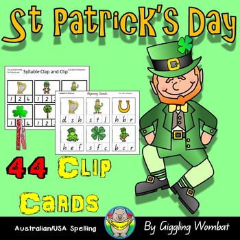 St Patrick's Day Clip Cards