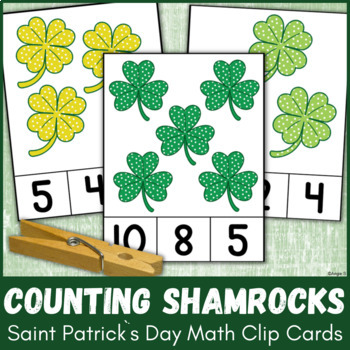St Patrick`s Day Clip Cards