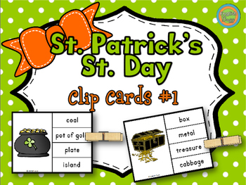 St. Patrick's Day - Clip Cards Game #1