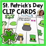 Picture Matching Task Cards   St. Patrick's Day   Special Education Resource