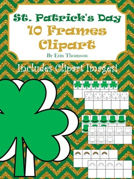 St. Patrick's Day Clipart ~ 10 Frames and Images