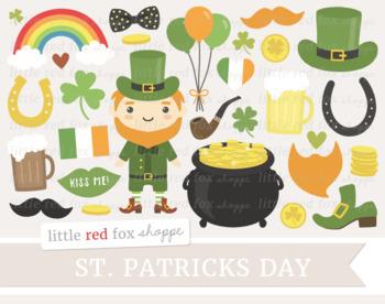 st patrick s day clipart leprechaun pot of gold shamrock